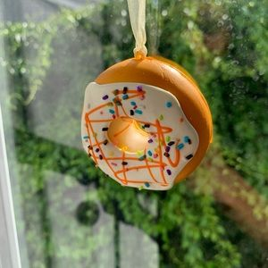 Squishy Frosted Doughnut Ornament